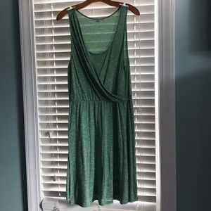 Gap green and white striped sundress, size L